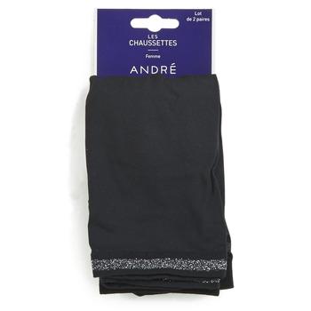 Clothes accessories Women Socks André MARGUERITE Black