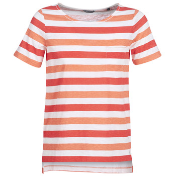 material Women short-sleeved t-shirts Marc O'Polo CARACOLINE White / Orange