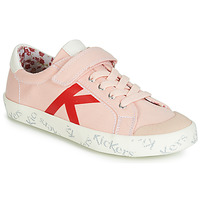 Shoes Girl Low top trainers Kickers GODY Pink / Clear