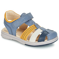 Shoes Boy Sandals Kickers PLATINIUM Blue / Yellow