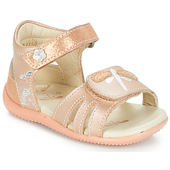 Shoes Girl Sandals Kickers BESHINE Pink / Metal