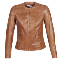 material Women Leather jackets / Imitation le Naf Naf CLIM Cognac
