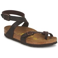 Shoes Women Sandals Birkenstock YARA PREMIUM Brown