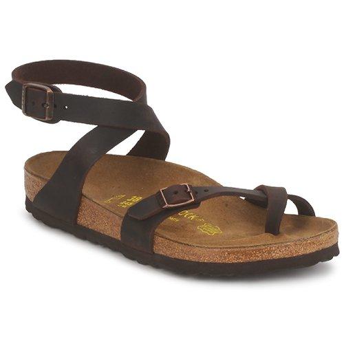 Shoes Women Sandals Birkenstock YARA PREMIUM Brown