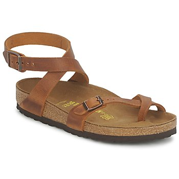 Shoes Women Sandals Birkenstock YARA PREMIUM Camel
