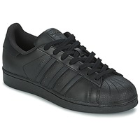 Shoes Men Low top trainers adidas Originals SUPERSTAR FOUNDATION Black
