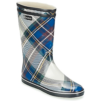 Shoes Women Wellington boots Aigle MALOUINE PRINT MARINE