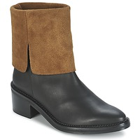 Shoes Women Mid boots Miista KAMILA Black / Brown
