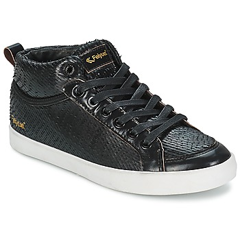 Shoes Women High top trainers Feiyue DELTA MID DRAGON Black