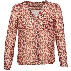 material Women long-sleeved shirts Best Mountain AZARI BEIGE / Red