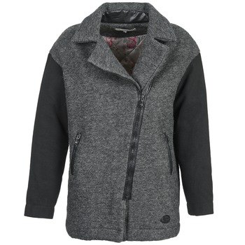 material Women coats Banana Moon ARTHIS Black / Grey