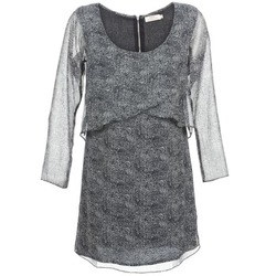material Women Short Dresses DDP LUZA Black / Grey