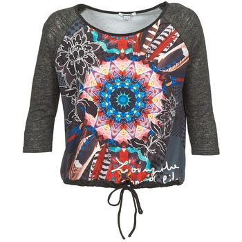material Women Long sleeved shirts Smash ANNABEL 42 Grey / Multicoloured