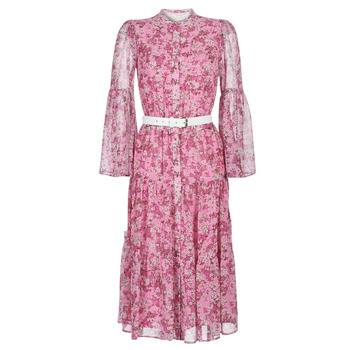 material Women Long Dresses MICHAEL Michael Kors ENCHANTED BLOOM DRESS Pink