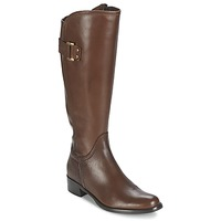 Shoes Women Boots Moda In Pelle SANTOSA Tan