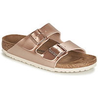 Shoes Women Mules Birkenstock ARIZONA Pink / Gold