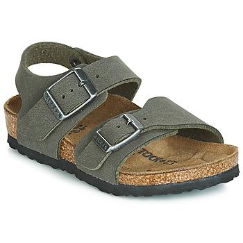 Shoes Boy Sandals Birkenstock NEW YORK Grey
