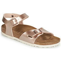 Shoes Women Sandals Birkenstock RIO Pink / Gold