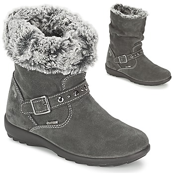 Shoes Girl Boots Primigi GLOSSY GORETEX Grey