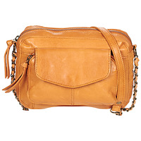 Bags Women Shoulder bags Pieces PCNAINA Cognac