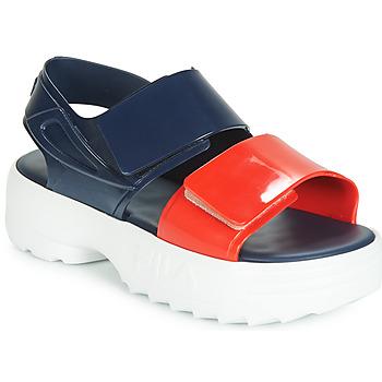 Shoes Women Sandals Melissa SANDAL + FILA Marine / Red / White