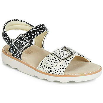 Shoes Girl Sandals Clarks Crown Bloom K Black