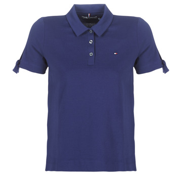 material Women short-sleeved polo shirts Tommy Hilfiger BRITT PQ POLO SS Marine