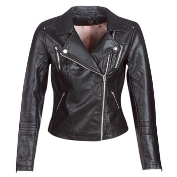 material Women Leather jackets / Imitation le Only ONLGEMMA Black
