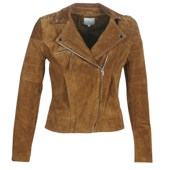material Women Leather jackets / Imitation le Vila VICRIS Cognac
