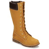 Shoes Children Boots Timberland GIRLS CLASSIC TALL LACE UP WITH SIDE ZIP Cognac