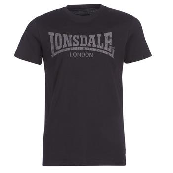 material Men short-sleeved t-shirts Lonsdale LOGO KAI Black