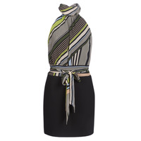 material Women Short Dresses Marciano SEEING STRIPES Black / Multicolour