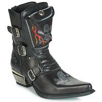 Shoes Men Boots New Rock M-WST024-S3 Black