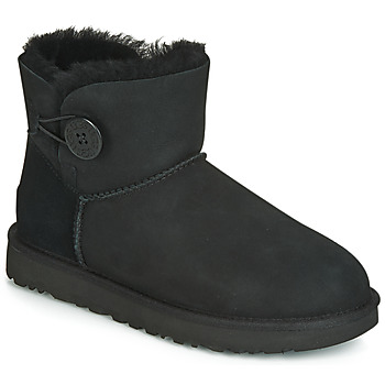 Shoes Women Mid boots UGG MINI BAILEY BUTTON II Black