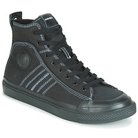 Shoes Men High top trainers Diesel S-ASTICO MID LACE Black