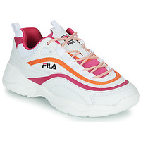 Shoes Women Low top trainers Fila RAY CB LOW WMN White / Pink / Orange
