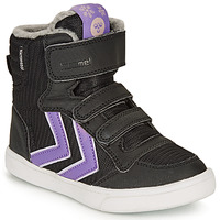 Shoes Girl High top trainers Hummel STADIL POLY BOOT MID JR Black