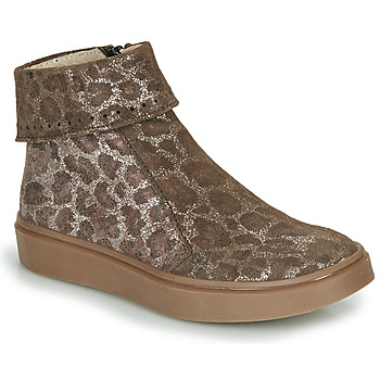 Shoes Girl Mid boots Catimini CAMOMILLE Brown