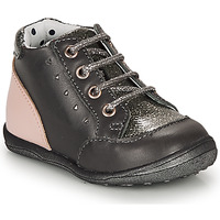 Shoes Girl Mid boots Catimini CLELIA Grey / Pink