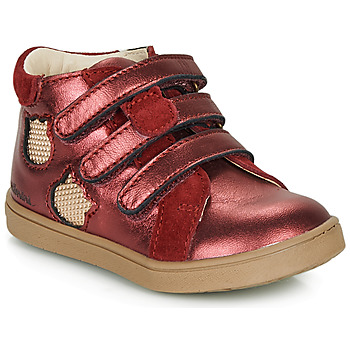 Shoes Girl High top trainers Catimini CIGANA Red / Gold