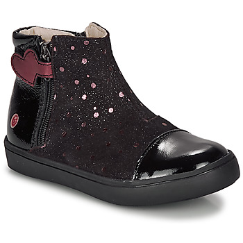 Shoes Girl Mid boots GBB OKITA Black / Pink