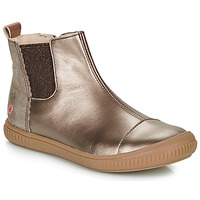 Shoes Girl Mid boots GBB ONAO Bronze / Taupe