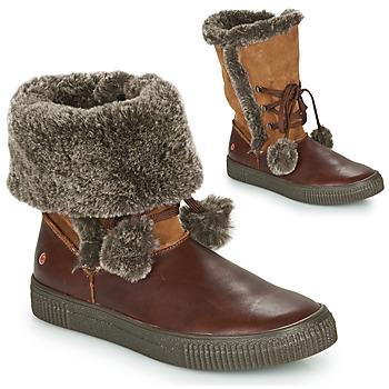 Shoes Girl Boots GBB NOUSTIK Brown