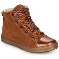 Shoes Girl High top trainers GBB OUSTILLE Brown