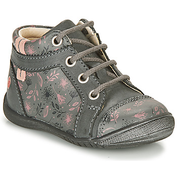 Shoes Girl Mid boots GBB OMANE Grey / Pink
