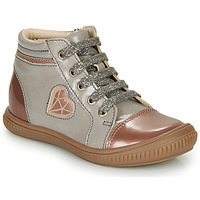 Shoes Girl High top trainers GBB OTANA Grey / Pink
