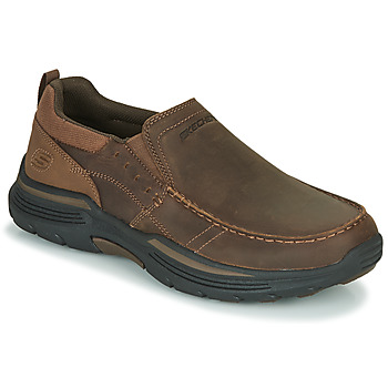 Shoes Men Slip ons Skechers EXPENDED Brown