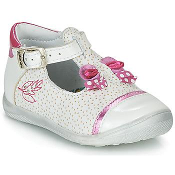 Shoes Girl Sandals Catimini CALATHEA White / Pink