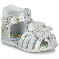 Shoes Girl Sandals Catimini CYGNE Silver