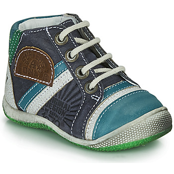 Shoes Boy Mid boots Catimini CIGOGNE Blue / Green